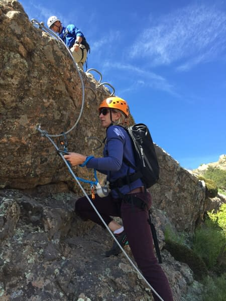 via ferrata at Royal Gorge Bridge and Park