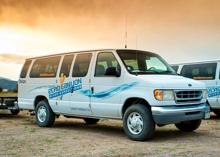 echo canyon shuttle van