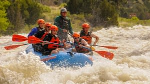 Scouts rafting the Arkansas River