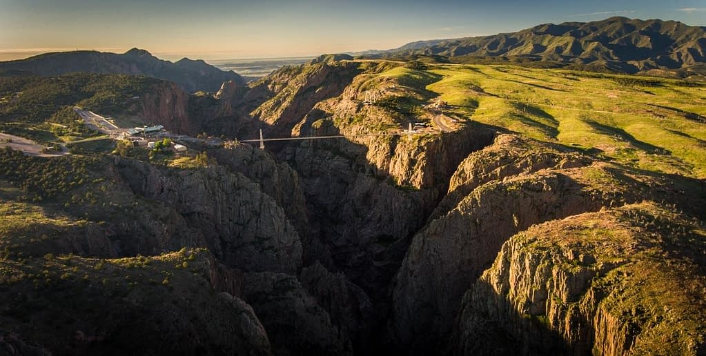 Aerial view of Royal Gorge