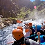Royal Gorge rafters with Echo Canyon