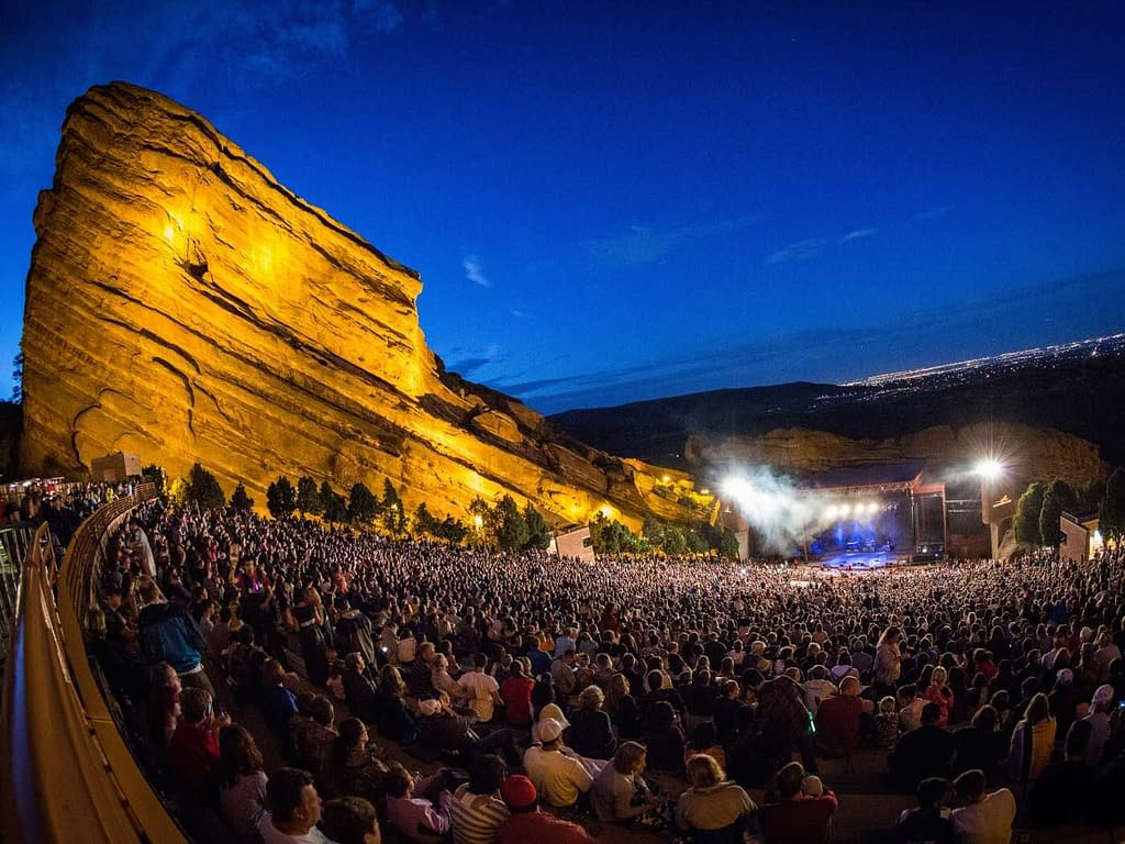 Concert at Red Rocks Amphitheatre