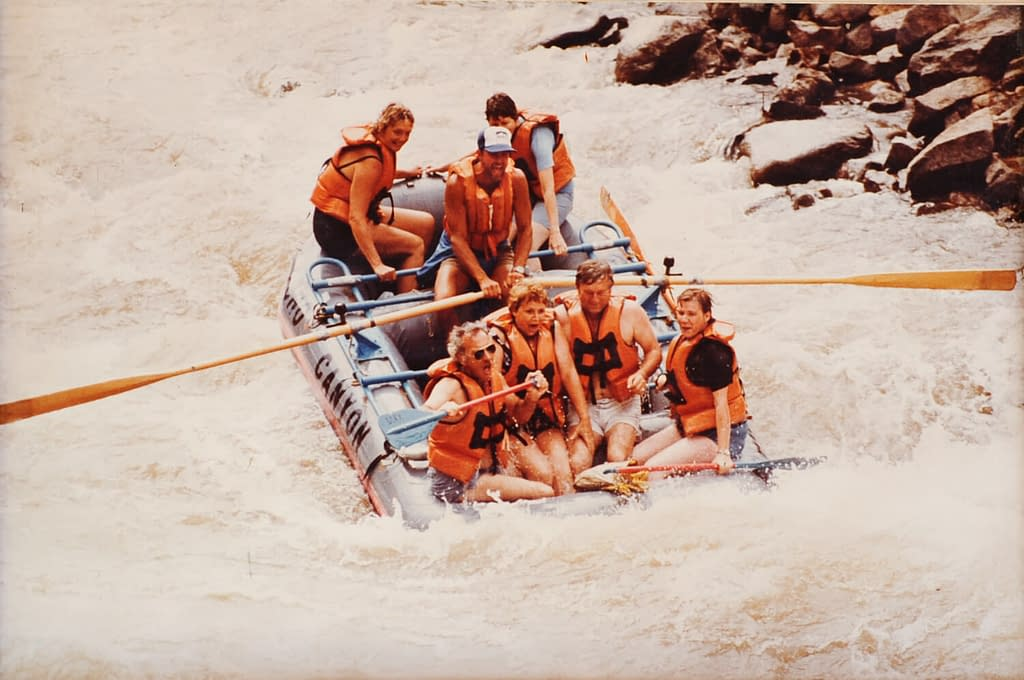 early days of rafting at Echo Canyon