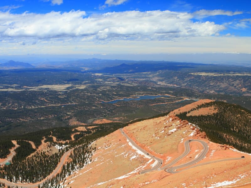 Pikes Peak Highway view from summit