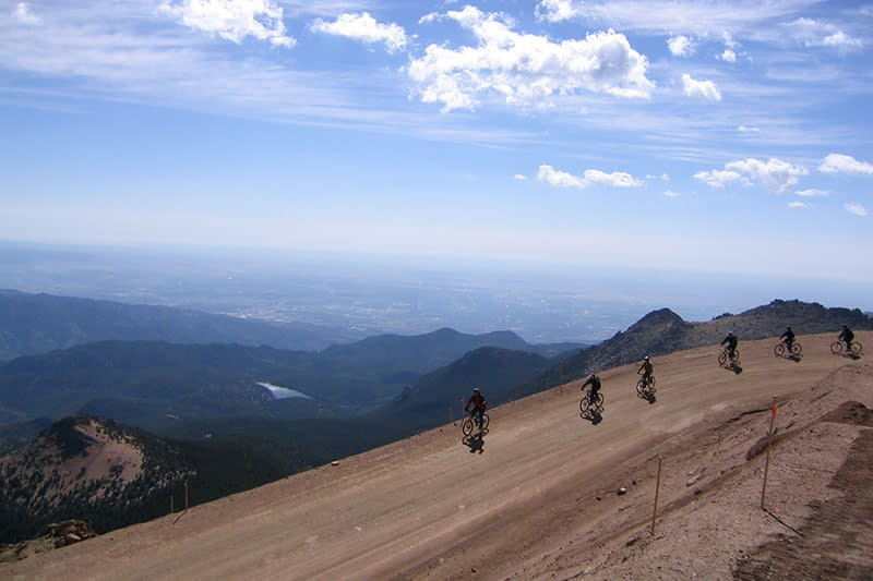 mountain biking pikes peak