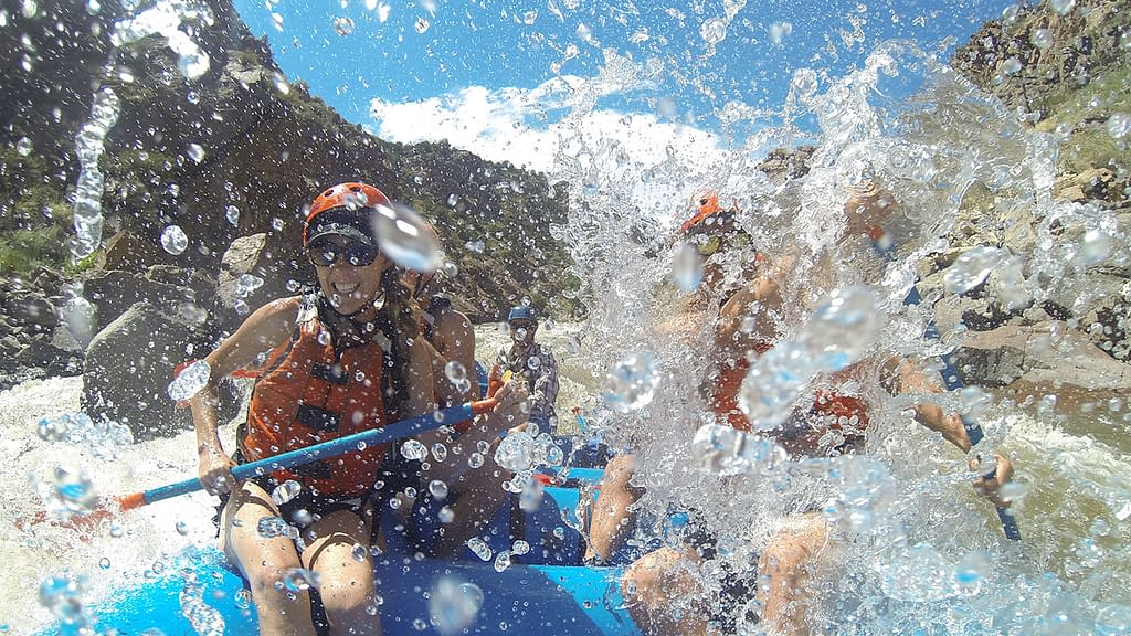 Adventure white water rafting with Echo Canyon