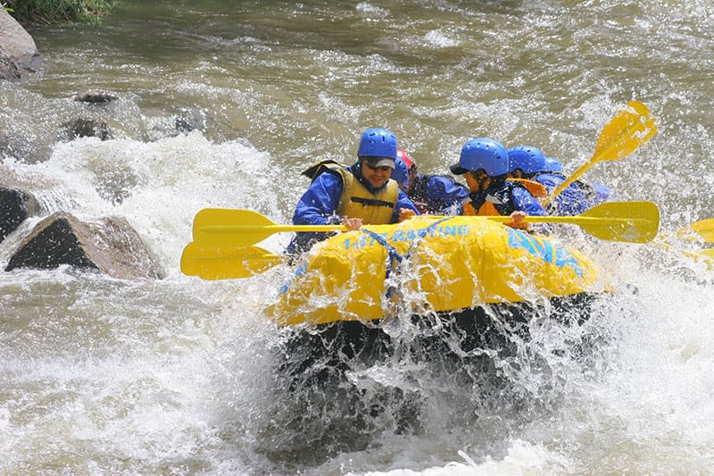 Clear Creek rafting trips near Denver