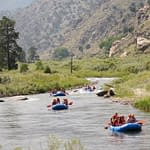 white water rafting with Echo Canyon