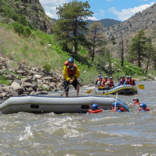 Guides training at Echo Canyon