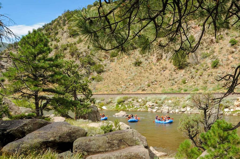 Arkansas River rafting in Bighorn Sheep Canyon