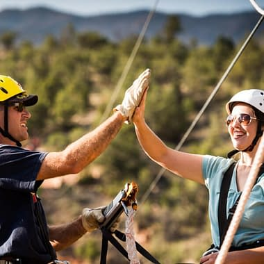 Zipline high five