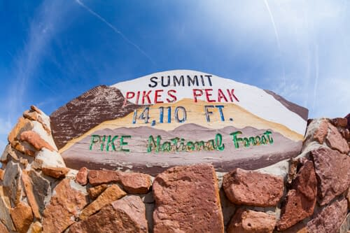 Summit of Pikes Peak Colorado