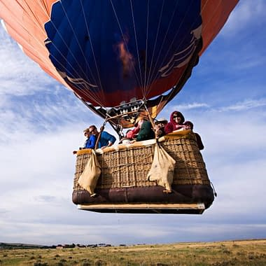 A hot air balloon ride near Colorado Springs