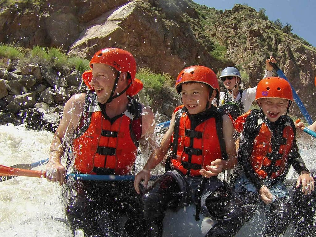 Rafting with kids in Colorado with Echo Canyon