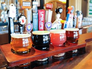 sixteen draft beers available at 8 Mile Bar & Grill