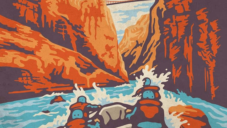 Royal Gorge horizontal illustration