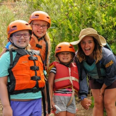 Echo Canyon Guides love working with kids