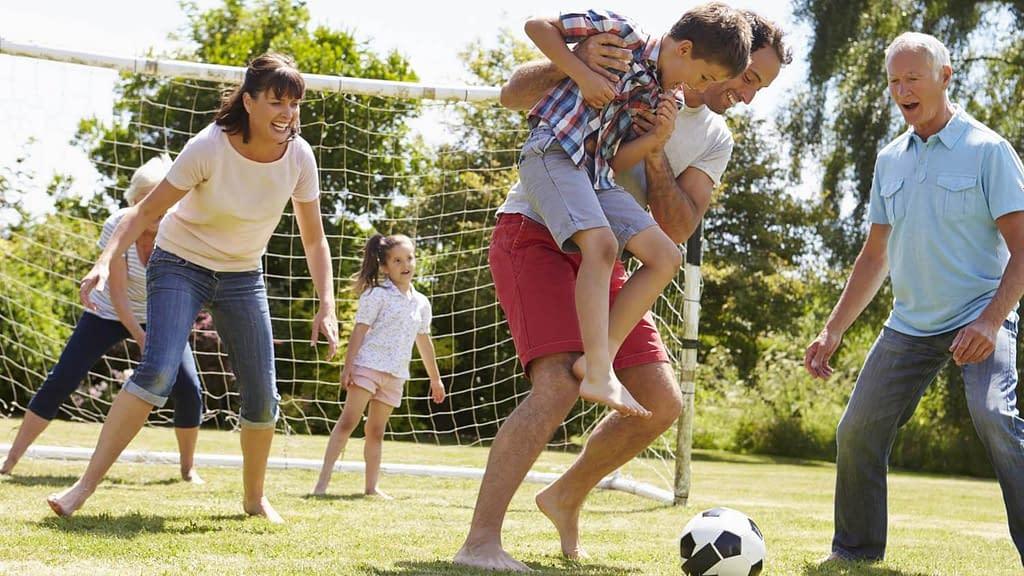 family soccer game