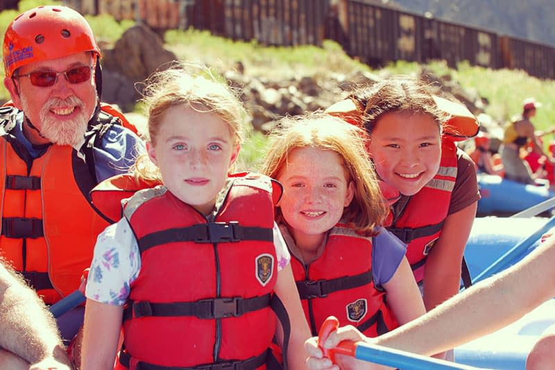 family rafting trips at Bighorn Sheep Canyon and Echo Canyon