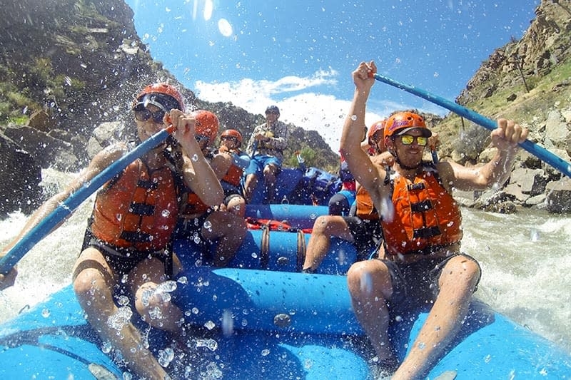 big splashes in Royal Gorge at Echo Canyon
