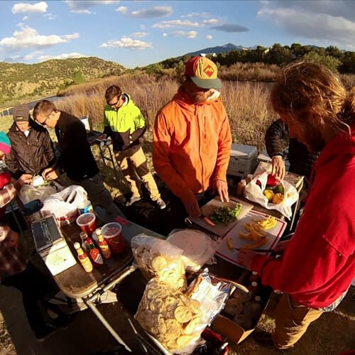 guide training food prep on-river