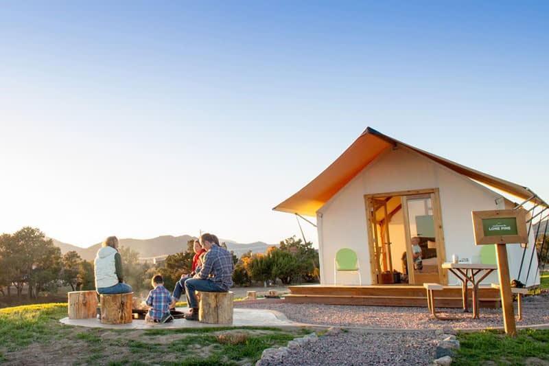 Glamping tent rentals at Echo Canyon