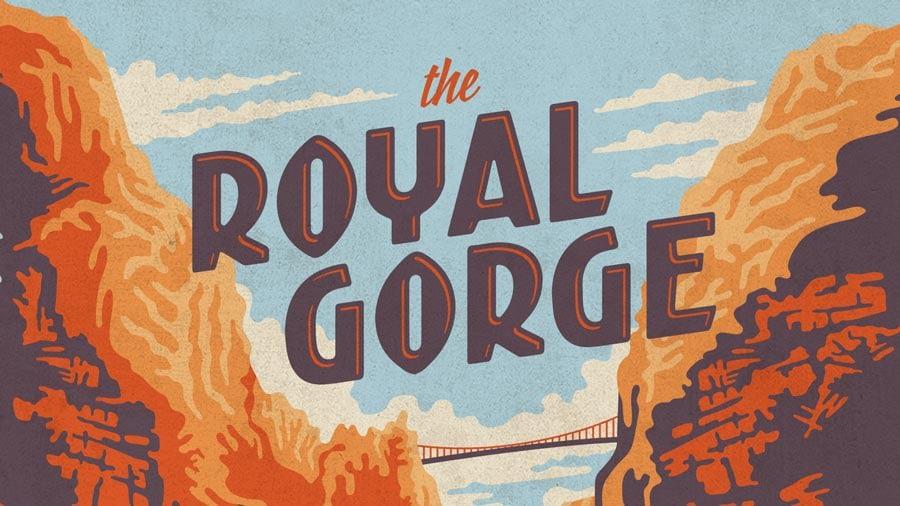 royal gorge bridge illustration