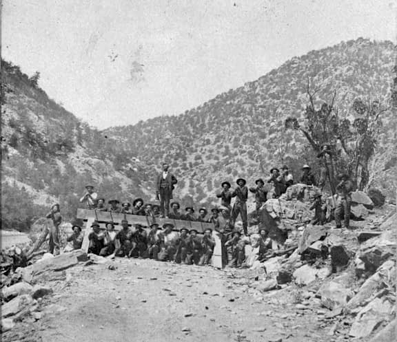 barricade used during Royal Gorge War