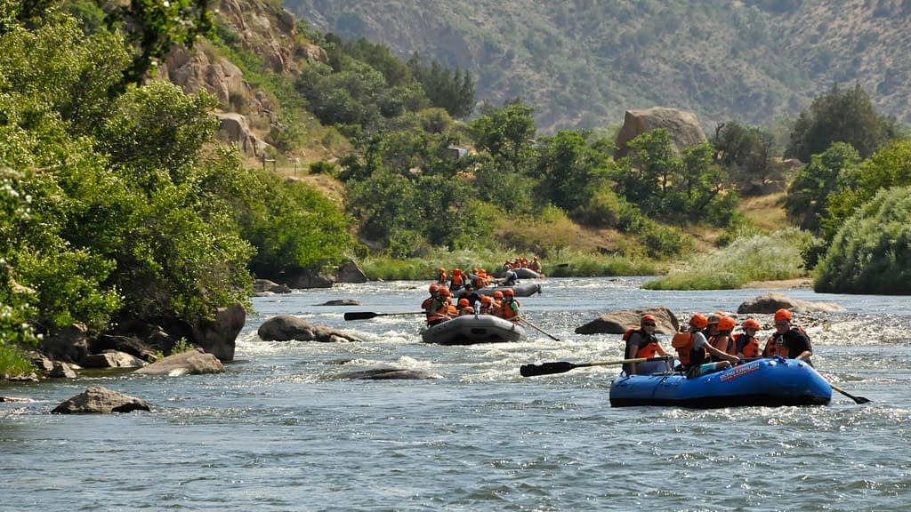 Beginner rafting on the Arkansas River