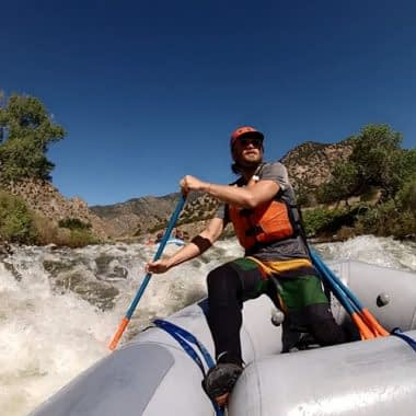 Guide Trainee navigating Five Points Rapid
