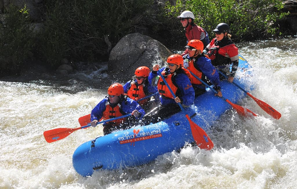 exciting white water trips with Echo Canyon