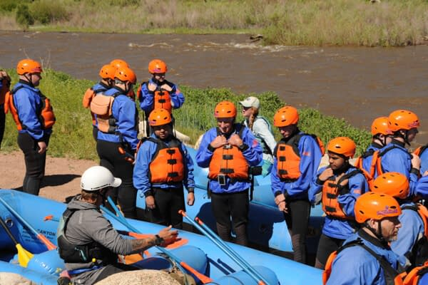 safety orientation before a raft trip