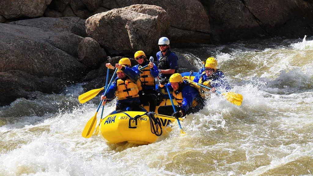 Clear Creek white water rafting