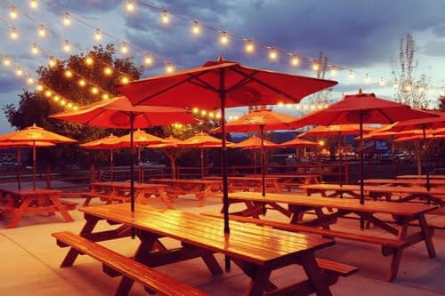 8 Mile Bar & Grill private patio for Canon City group events
