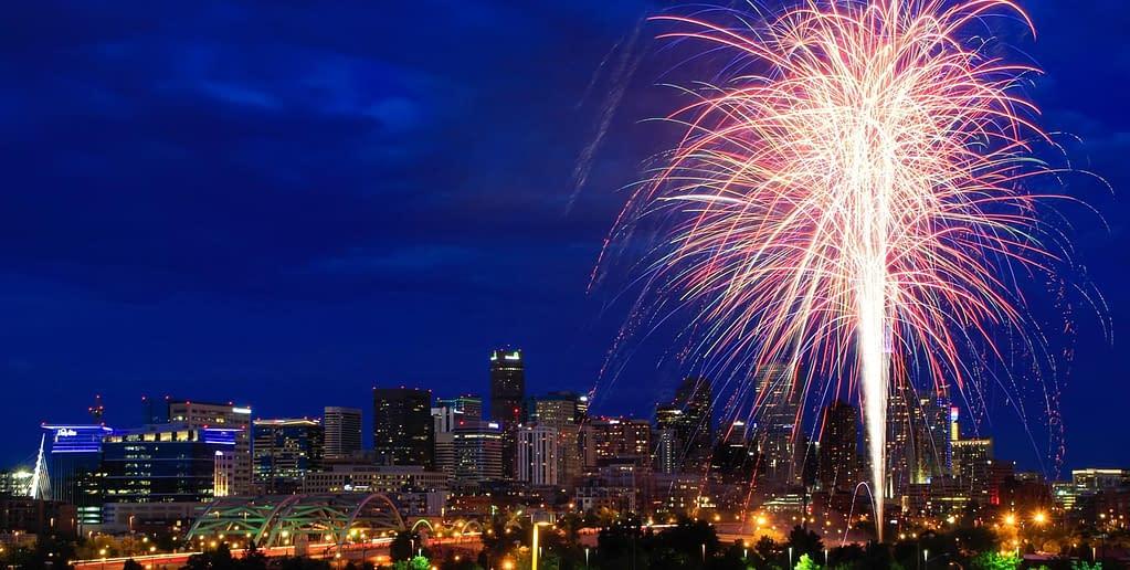 fireworks over denver colorado