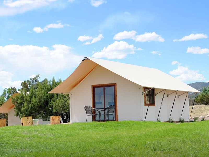 double queen glamping tent