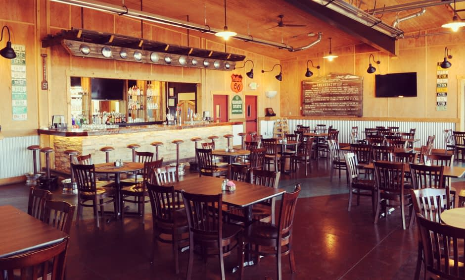 Seating for well over 100 guests at 8 Mile Bar & Grill