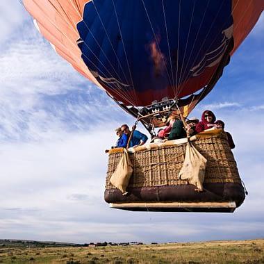 A hot air balloon ride near Colorado Springs