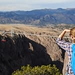 hiking Canyon Rim Trail near the Royal Gorge Bridge
