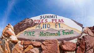 Summit of Pikes Peak in Colorado