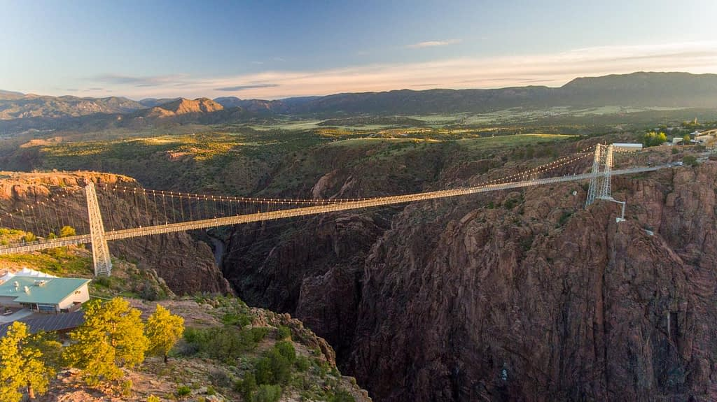 Royal Gorge Bridge and Park from the air