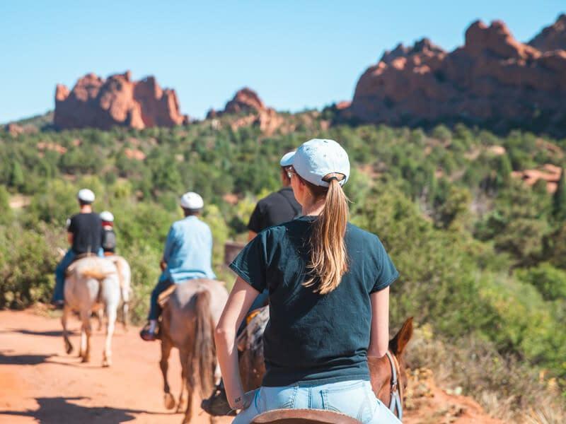 Incredible geologic views on Garden of Gods horseback ride