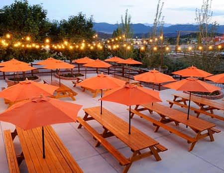 private patio for catered meals