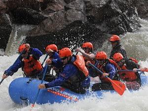 Rafting through a rain storm