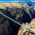 Aerial view of the Royal Gorge Bridge