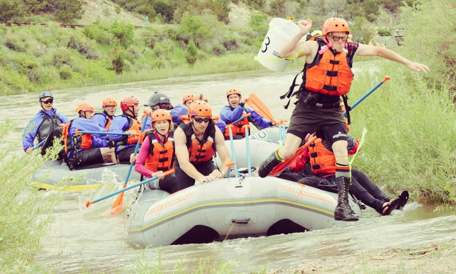 To the finish line - Echo Canyon's Signature Team Building Experience - Battle of the Bighorn