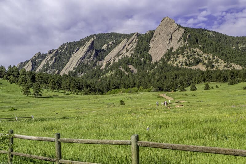 Flat Irons near Boulder Colorado