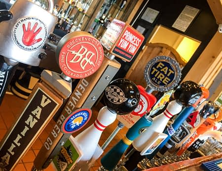 sixteen draft beers on tap at 8 Mile Bar & Grill