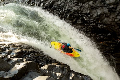 the upper limit of navigable whitewater