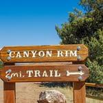 Canon Rim Trail trailhead